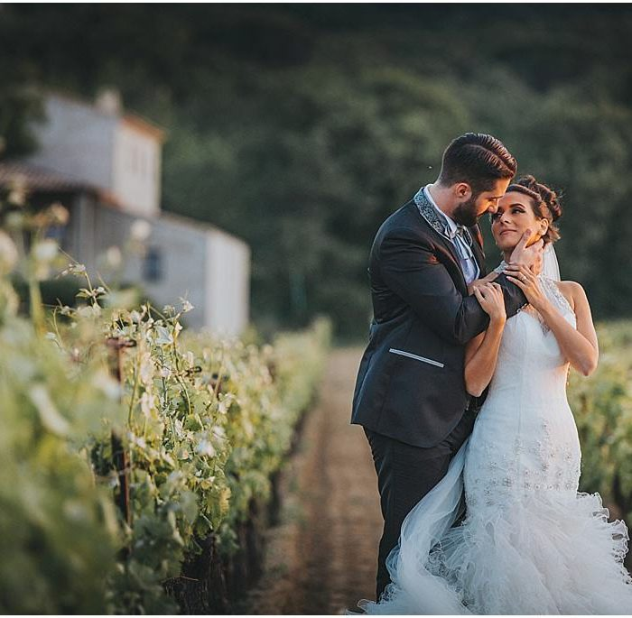 Destination wedding photographer in a French chateau