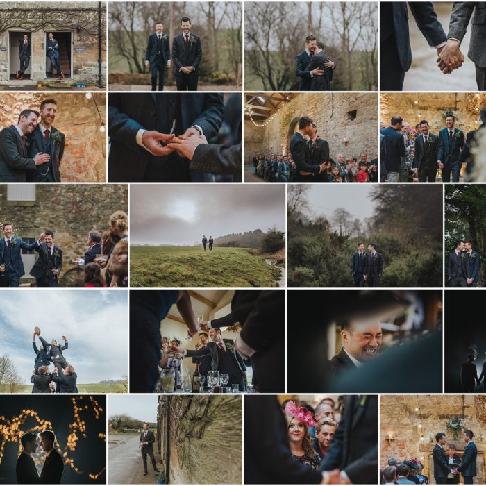 wedding photographer // Doxford Barn // Aaron + David